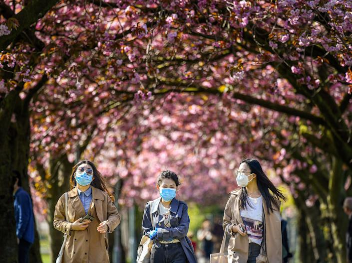 "<p>Blossoming tree circles will be planted across the UK ""to help signal reflection and hope"" after the Covid-19 pandemic</p> (Jeff J Mitchell/Getty Images)"
