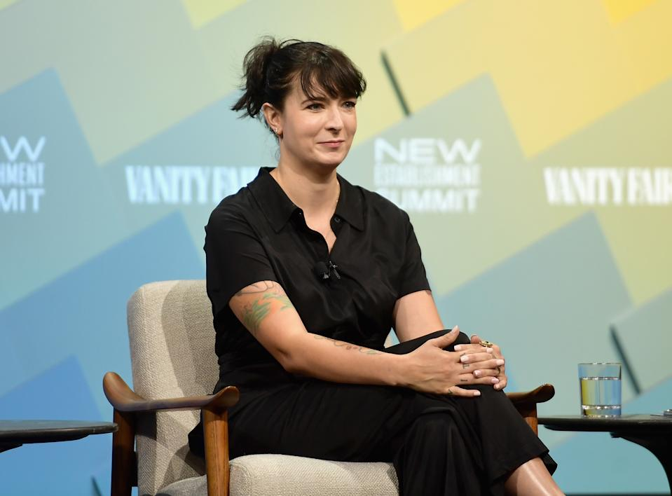 BEVERLY HILLS, CA - OCTOBER 09:  Creator of Jagged Little Pill: The Musical, Diablo Cody speaks onstage at Day 1 of the Vanity Fair New Establishment Summit 2018 at The Wallis Annenberg Center for the Performing Arts on October 9, 2018 in Beverly Hills, California.  (Photo by Matt Winkelmeyer/Getty Images)