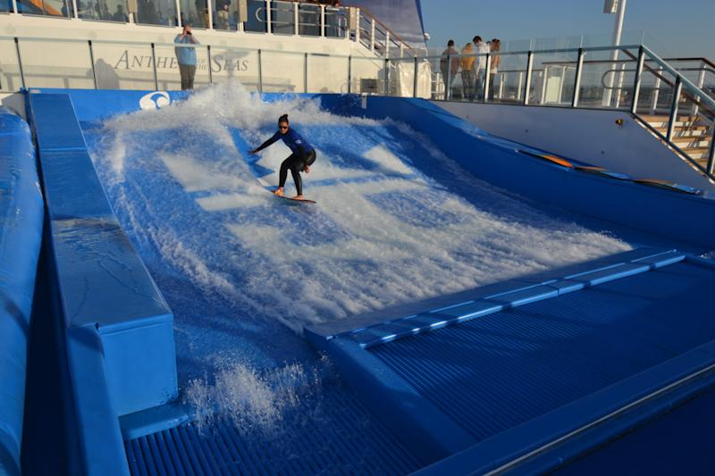 Access to Royal Caribbean's FlowRider wave pools is free with your cruise fare.