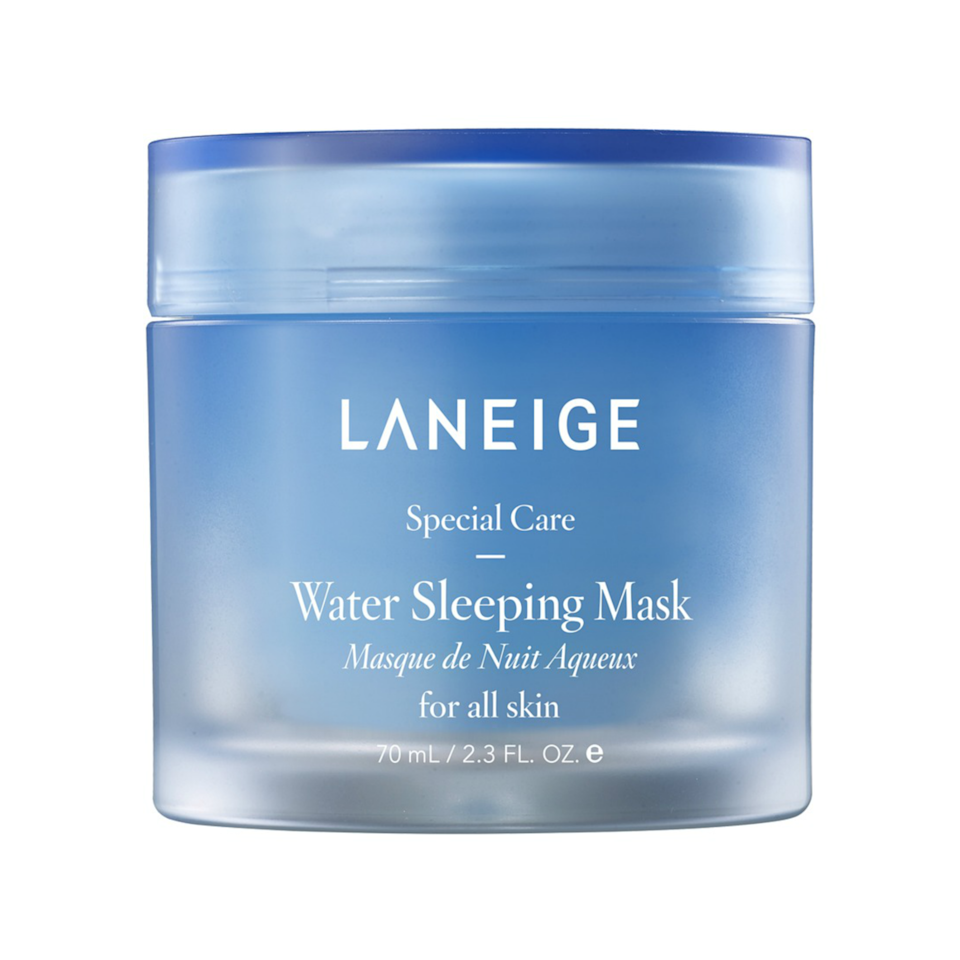 """<p>Don't sleep on <a href=""""https://www.allure.com/review/laneige-water-sleeping-mask-review?mbid=synd_yahoo_rss"""" rel=""""nofollow noopener"""" target=""""_blank"""" data-ylk=""""slk:Laneige's Water Sleeping Mask"""" class=""""link rapid-noclick-resp"""">Laneige's Water Sleeping Mask</a>, which, as one <em>Allure</em> editor put it, is the beauty product equivalent of skin-care commercial models rinsing their faces serenely """"by dramatically splashing water on it in slow motion.""""</p> <p><strong>$25</strong> (<a href=""""https://shop-links.co/1726099631424948344"""" rel=""""nofollow noopener"""" target=""""_blank"""" data-ylk=""""slk:Shop Now"""" class=""""link rapid-noclick-resp"""">Shop Now</a>)</p>"""