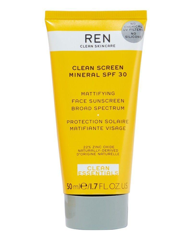 """<p><a class=""""link rapid-noclick-resp"""" href=""""https://go.redirectingat.com?id=127X1599956&url=https%3A%2F%2Fwww.lookfantastic.com%2Fren-clean-screen-mineral-spf30-mattifying-broad-spectrum-face-sunscreen-50ml%2F12090611.html&sref=https%3A%2F%2Fwww.elle.com%2Fuk%2Fbeauty%2Fskin%2Fg32735%2Fbest-face-sun-cream-spf-acne-spots-non-comedogenic%2F"""" rel=""""nofollow noopener"""" target=""""_blank"""" data-ylk=""""slk:SHOP NOW"""">SHOP NOW</a></p><p>Not only is this good for your face, it's also vegan and full of naturally devised, super-clean ingredients, so is good for the planet too. Anyone sensitive-skinned should love this one.</p>"""