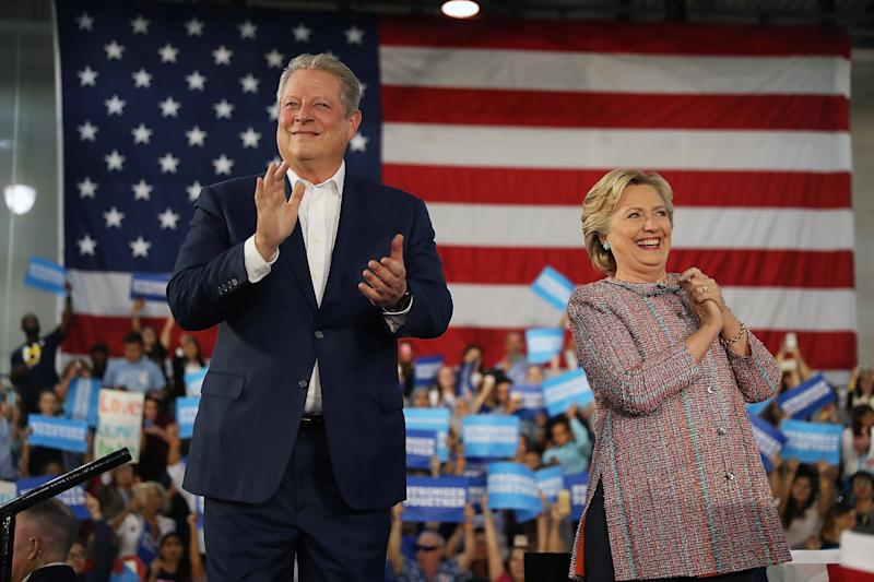 Hillary Clinton and Al Gore Bring Climate Change Message to the Issue's Front Line