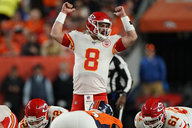 Earlier this year, Kansas City Chiefs backup quarterback Matt Moore was working as a scout with Miami. (AP)