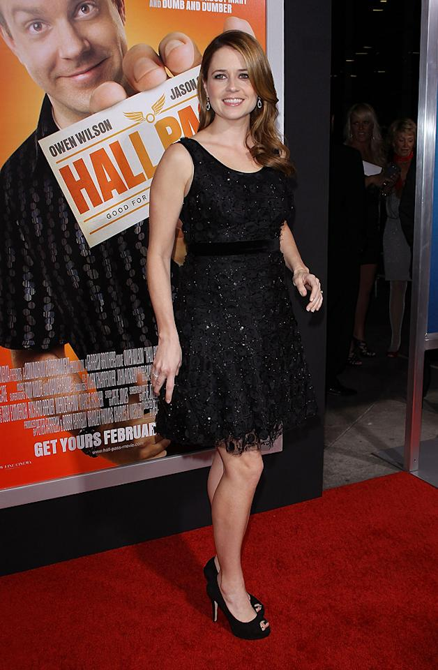 """<a href=""""http://movies.yahoo.com/movie/contributor/1804724172"""">Jenna Fischer</a> attends the Los Angeles premiere of <a href=""""http://movies.yahoo.com/movie/1810133702/info"""">Hall Pass</a> on February 23, 2011."""
