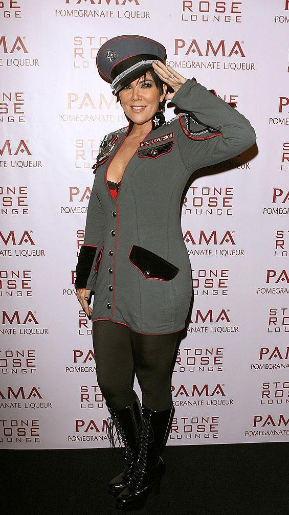 <p>Mum Kris Jenner is never one to miss out on the fun and dressed as a pilot for Kim's Halloween festivities back in 2008. <em>[Photo: Getty]</em> </p>