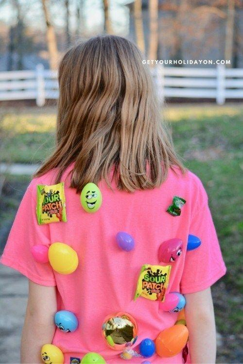 "<p>Add an extra-competitive edge to the <a href=""https://www.countryliving.com/entertaining/g16593389/adult-easter-egg-hunt/"" rel=""nofollow noopener"" target=""_blank"" data-ylk=""slk:Easter egg hunt"" class=""link rapid-noclick-resp"">Easter egg hunt</a> with a friendly round of tag. Rather than hiding the eggs and candy, have a family member wear them on a t-shirt and run around the backyard. Whoever snatches the most goodies wins!</p><p><strong>Get the tutorial at <a href=""https://www.getyourholidayon.com/easter-egg-tag-game/"" rel=""nofollow noopener"" target=""_blank"" data-ylk=""slk:Get Your Holiday On"" class=""link rapid-noclick-resp"">Get Your Holiday On</a>.</strong></p><p><strong><a class=""link rapid-noclick-resp"" href=""https://www.amazon.com/Hanes-OSL04-Womens-Nano-T-Shirt/dp/B00KRYM2AU/?tag=syn-yahoo-20&ascsubtag=%5Bartid%7C10050.g.3100%5Bsrc%7Cyahoo-us"" rel=""nofollow noopener"" target=""_blank"" data-ylk=""slk:SHOP T-SHIRTS"">SHOP T-SHIRTS</a><br></strong></p>"