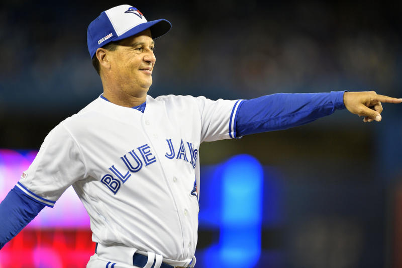 Toronto Blue Jays manager Charlie Montoyo described how exhausting it is to beat the powerhouse Houston Astros on Saturday. (Jeff Chevrier/Icon Sportswire via Getty Images)