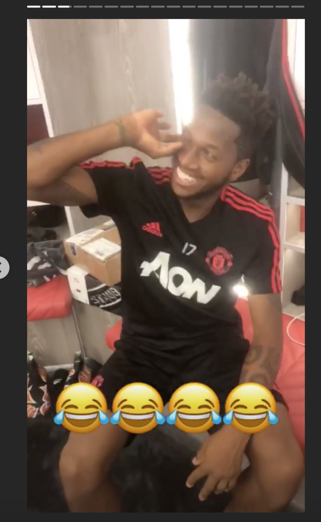 Summer signing Fred could not master the celebration