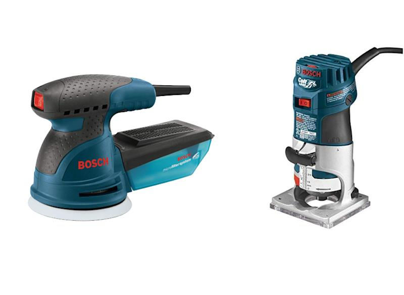 Bosch Colt 1-Horsepower 5.6 Amp Electronic Variable-Speed Palm Router (PR20EVS) with Orbital Sander