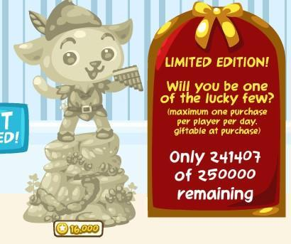 Pet Society Limited Edition Peter Pan statue