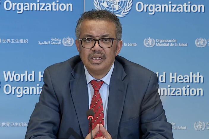 El director general de la OMS, Tedros Adhanom Ghebreyesus. (AFP via Getty Images)