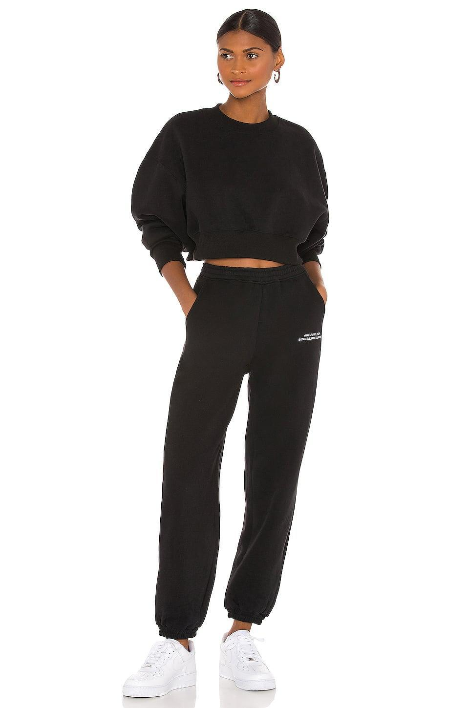<p>The message on these <span>Atoir x Rozalia These Tracksuits Inspired By Social Distancing Track Pants</span> ($121) is something we can get behind. If you're feeling particularly generous, gift this matching <span>Atoir x Rozalia Cropped Sweatshirt</span> ($130) too.</p>