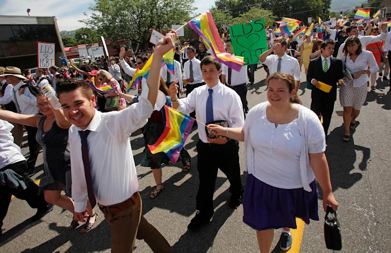 "<a href=""http://mormonsbuildingbridges.org/"" target=""_blank"">Mormons Building Bridges</a> brings together members of the Church of Jesus&nbsp;Christ of Latter-day Saints who want to show support for the queer community. In 2012, this group marched at Utah Pride for the first time. For&nbsp;John Gustav-Wrathal, a gay Mormon activist, this was an iconic moment.&nbsp;<br /><br />""Since then, there have been some crushing, traumatizing moments as well. ... Most of the hope has come from queer Mormons themselves. Attendance at Affirmation conferences has quadrupled since 2012,"" he told HuffPost. ""LGBT Mormons are coming together in a spectacular way and finding new ways to provide mutual support and engage with their faith."""