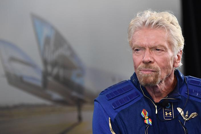 Sir Richard Branson speaks after he flew into space aboard a Virgin Galactic vessel, a voyage he described as the
