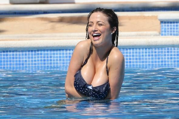 Chantelle Houghton shows off her curves on holiday in Spain