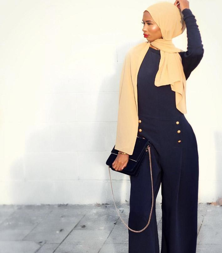 <p>K's bold Instagram blog is wildly popular while she and her sisters also run an independent hijab boutique [Photo: Instagram/basma_k] </p>