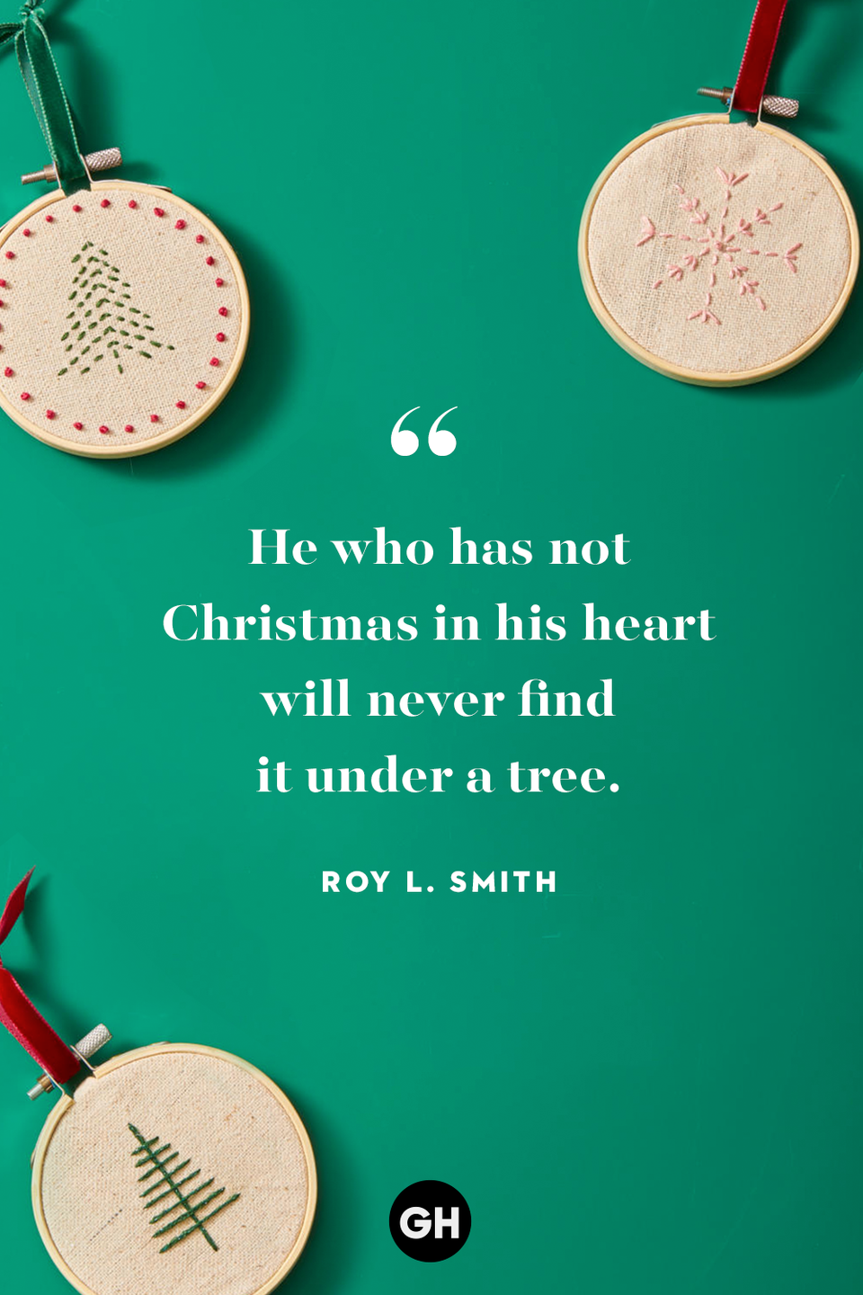 <p>He who has not Christmas in his heart will never find it under a tree. </p>