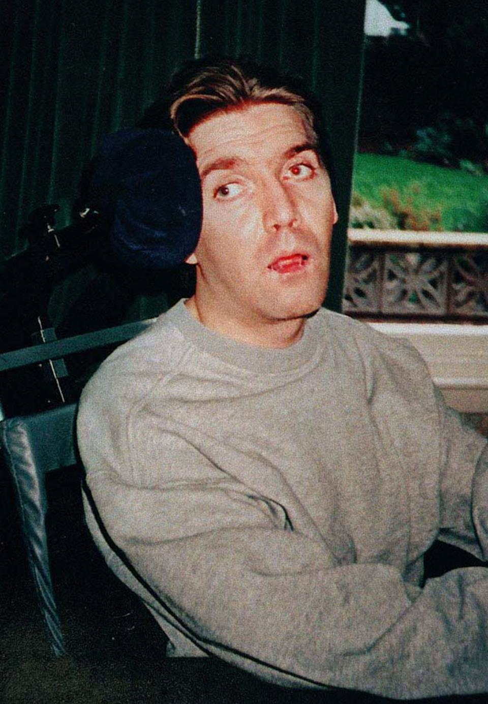Undated file photo of Andrew Devine (then aged 30) after emerging from an eight-year vegetative state following the Hillsborough disaster (Family handout/PA) (PA Media)
