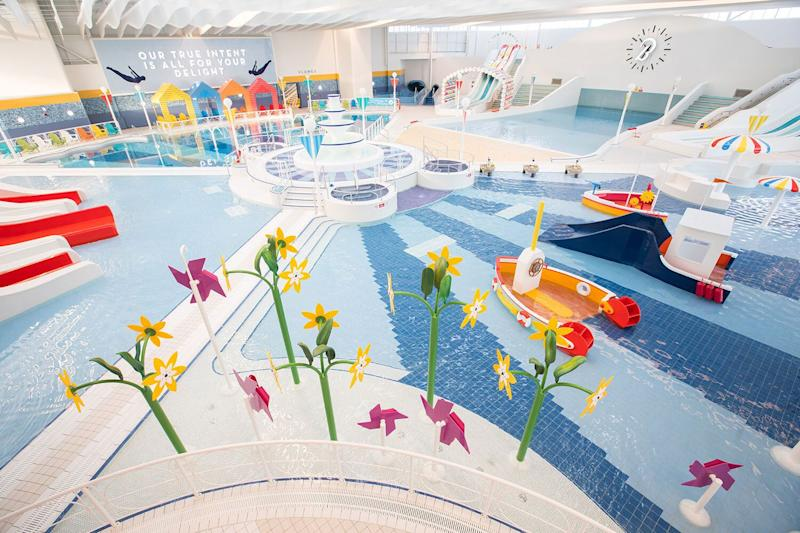 Use of the pool is included for every guest in the price of a break and the outdoor rapids are warm enough to enjoy all year round. (Butlin's)