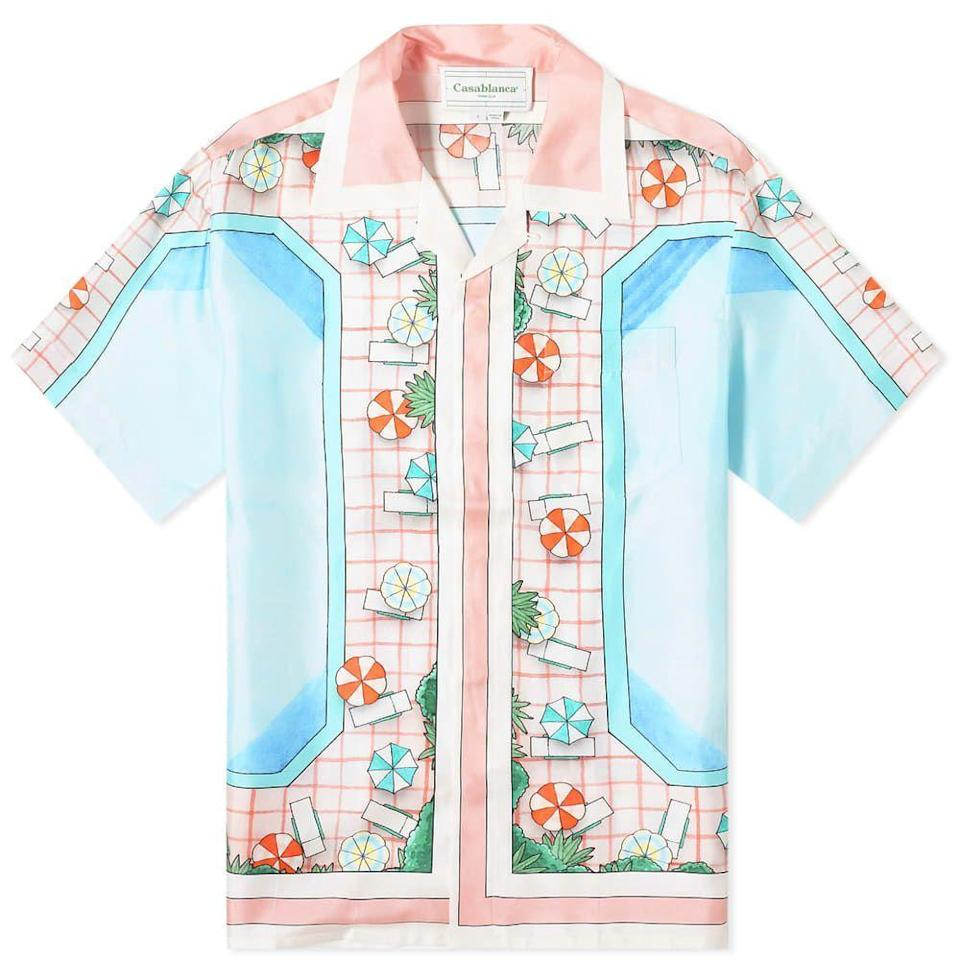 "<p><strong>Casablanca </strong></p><p>casablancaparis.com</p><p><strong>500.00</strong></p><p><a href=""https://casablancaparis.com/collections/ss20-so-alegria/products/copacabana-silk-shirt"" rel=""nofollow noopener"" target=""_blank"" data-ylk=""slk:Shop Now"" class=""link rapid-noclick-resp"">Shop Now</a></p><p>Seriously, this brand is so good I'm including two of their shirts. Take a dip in this one. </p>"