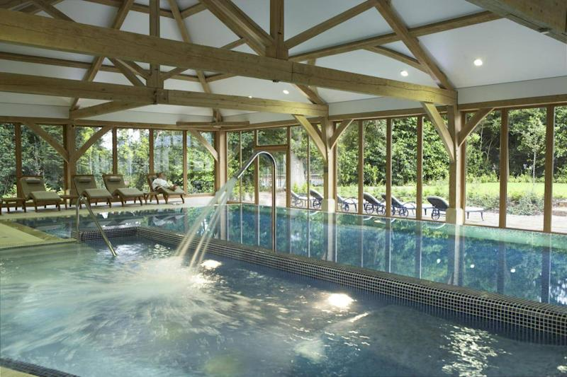 A number of treatment and relaxation options are available in the pool and spa