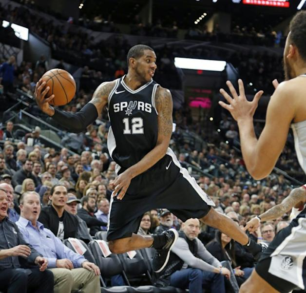 LaMarcus Aldridge scored 19 of his 33 points in the fourth quarter and grabbed 12 rebounds for the Spurs in an 89-75 victory over the injury ravaged Golden State Warriors