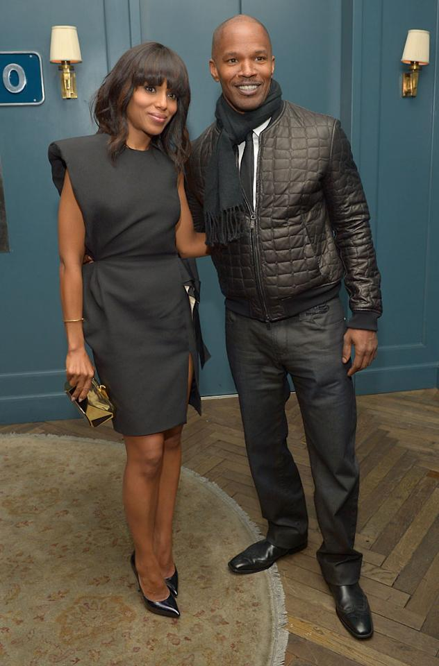 Kerry Washington and Jamie Foxx attend The Weinstein Company and Chopard's Academy Award Party in association with Grey Goose at Soho House on February 23, 2013 in West Hollywood, California.