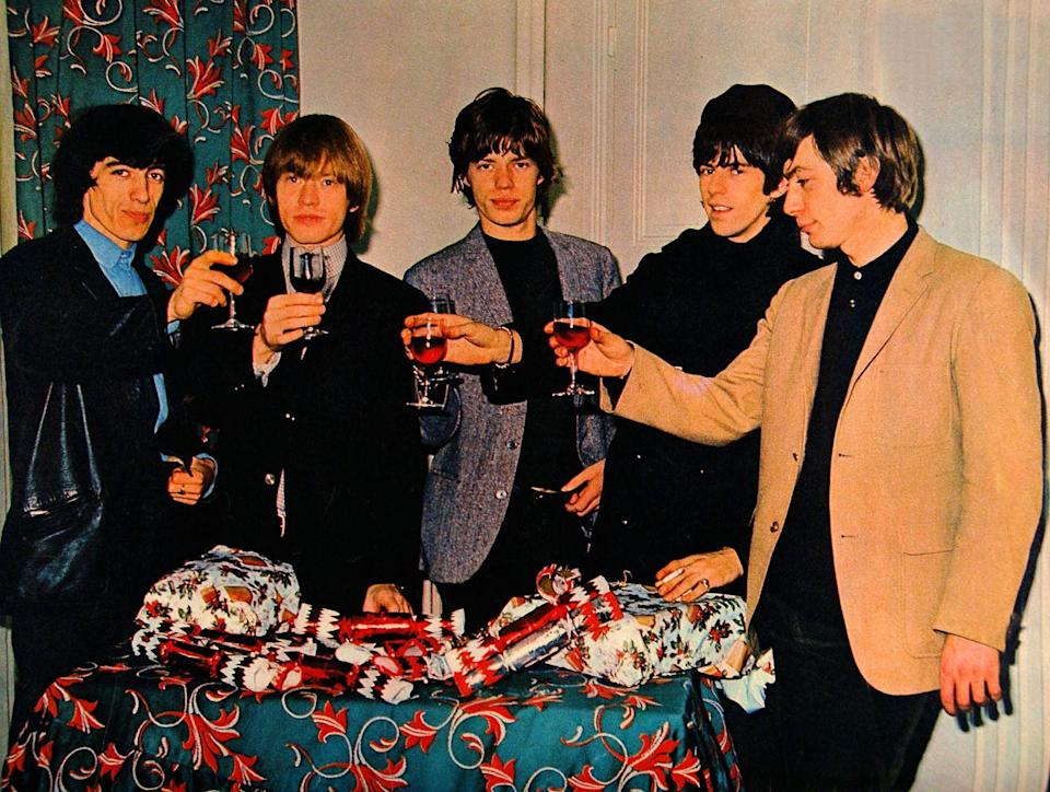 <p>The band celebrates Christmas together while on tour in Australia, 1965. </p>