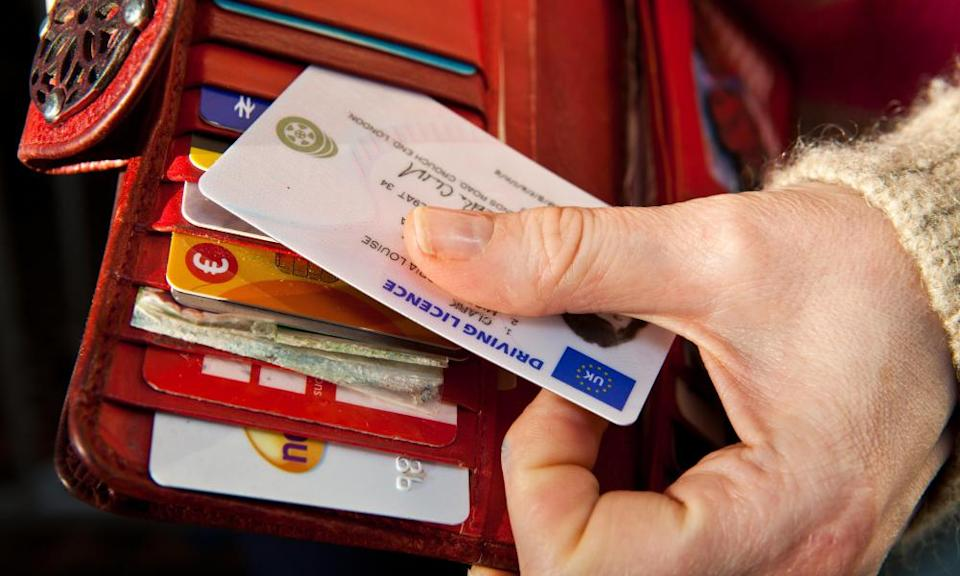 """<span class=""""element-image__caption"""">Normally, drivers are required to renew their photocard licence every 10 years and bus and lorry drivers every five years.</span> <span class=""""element-image__credit"""">Photograph: Lee Martin/Alamy</span>"""
