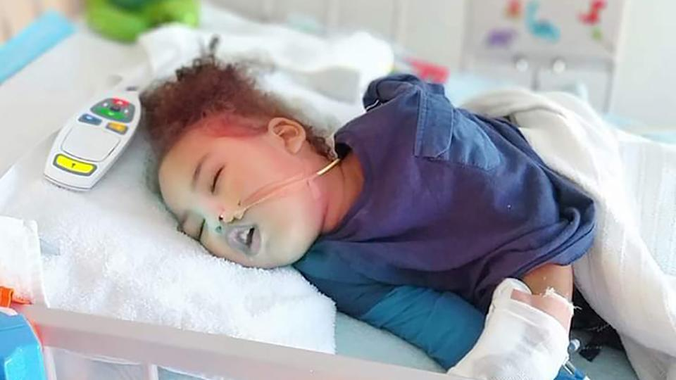 The world's youngest Parkinson's sufferer Jahleel Marsh in hospital