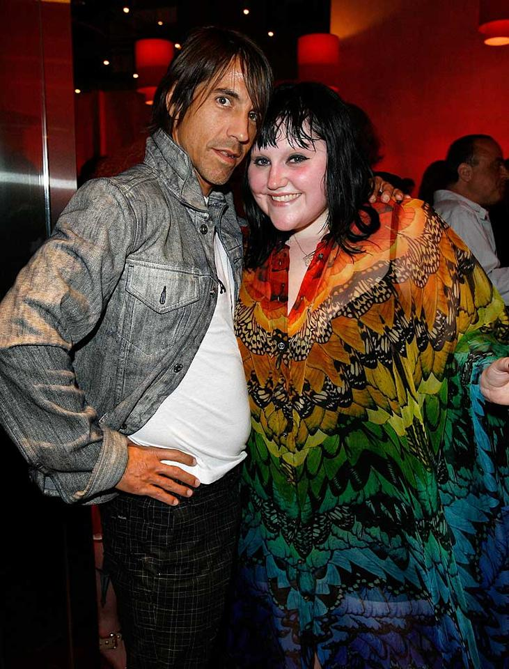 """Someone call the fashion police! """"Red Hot Chili Pepper"""" frontman Anthony Kiedis and Gossip lead singer Beth Ditto are committing crimes of fashion! Donato Sardella/<a href=""""http://www.wireimage.com"""" target=""""new"""">WireImage.com</a> - May 13, 2008"""
