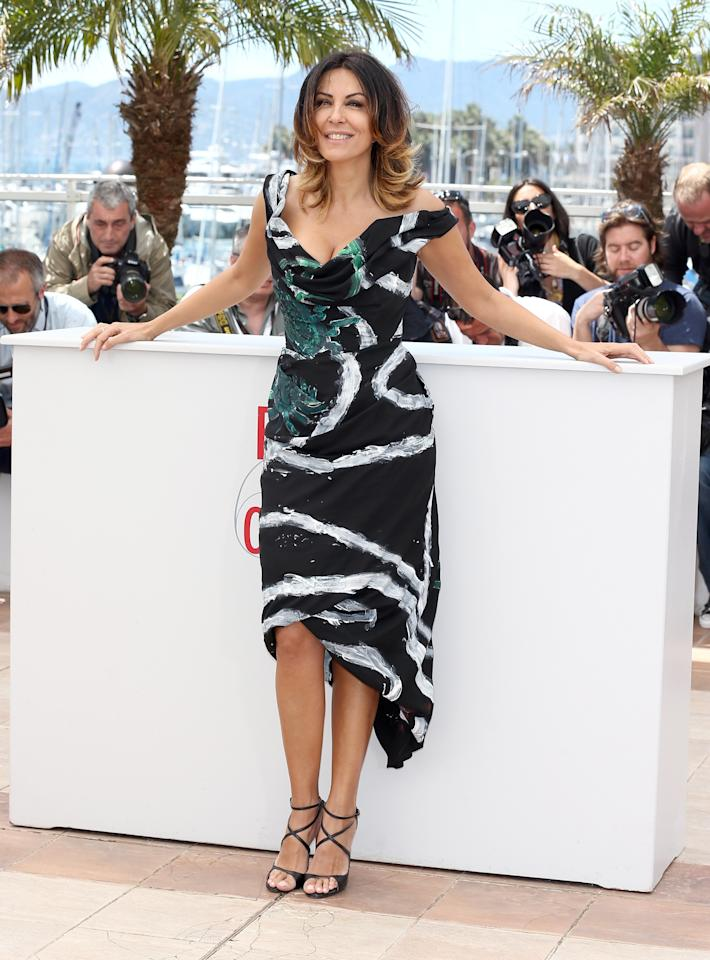 CANNES, FRANCE - MAY 21:  Actress Sabrina Ferilli attends the 'La Grande Bellezza' Photocall during The 66th Annual Cannes Film Festival at the Palais des Festivals on May 21, 2013 in Cannes, France.  (Photo by Andreas Rentz/Getty Images)