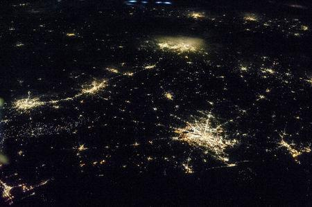 FILE PHOTO: The state of Texas is captured by one of the NASA Expedition 36 crew members aboard the International Space Station, some 240 miles above Earth, used a 50mm lens in this image released on June 27, 2013. T  REUTERS/NASA/Handout via Reuters