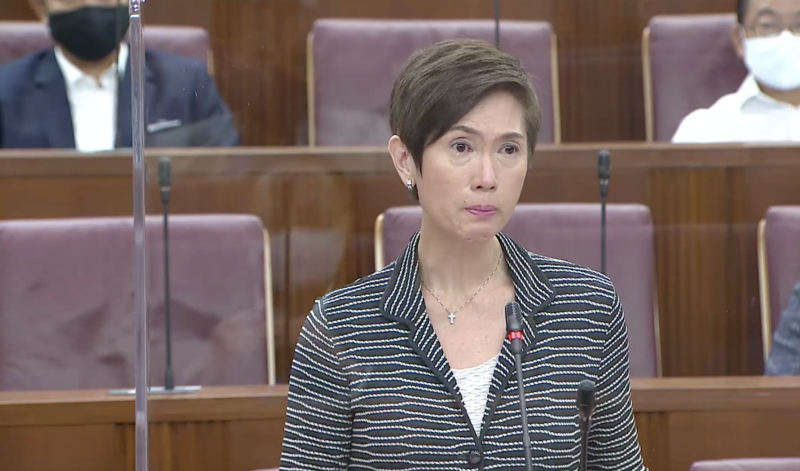 Manpower Minister Josephine Teo delivering her debate on the President's Address on 1 September, 2020 in Parliament. (PHOTO: Parliament screengrab)