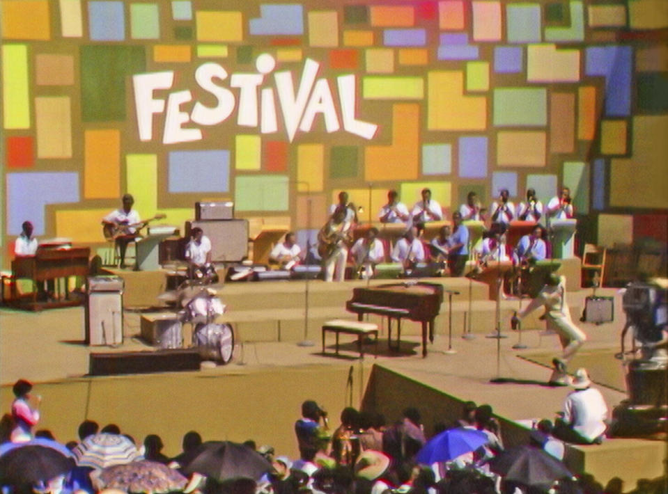 """This image released by Searchlight Pictures shows the Harlem Cultural Festival in 1969, featured in the documentary """"Summer of Soul."""" (Searchlight Pictures via AP)"""