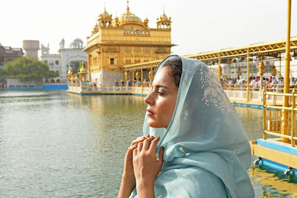 File image:  Kangana Ranaut pays respect at the Golden Temple in Amritsar (Getty Images)