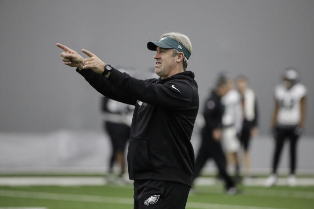 Philadelphia Eagles head coach Doug Pederson's aggressiveness, especially on fourth down, has been a trademark for his team. (AP)