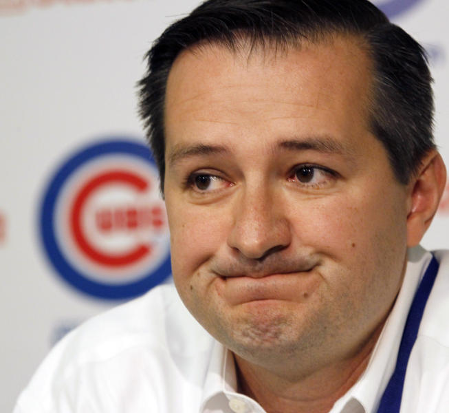 FILE - In this Aug. 19, 2011 file photo, Chicago Cubs owner Tom Ricketts talks at a news conference in Chicago. Ricketts, the billionaire behind the TD Ameritrade brokerage firm and a Nebraska conservative, created a stir in the presidential campaign in May when it was revealed he was considering plans for an anti-Obama ad campaign. (AP Photo/Charles Rex Arbogast, File)