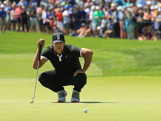 Koepka will take a record seven-shot lead into the final round (Getty)