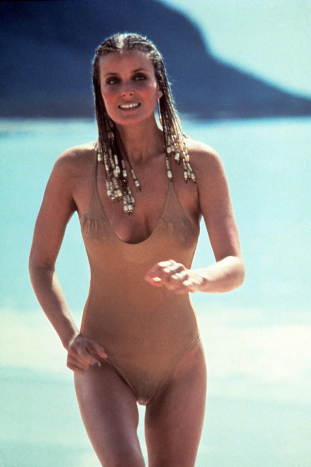 Bo Derek in her famous nude one-piece. (Photo: Everett Collection)