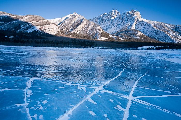 The subject is Abraham Lake situated in the Canadian Rockies in western Alberta, Canada.  (Photo: Emmanuel Coupe)