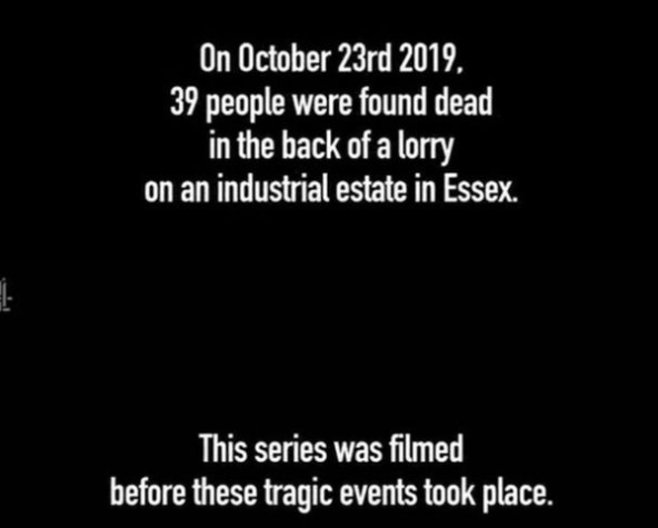 Channel 4 put up a message at the beginning of the programme highlighting that it was filmed before the 39 bodies were found. (Channel 4)