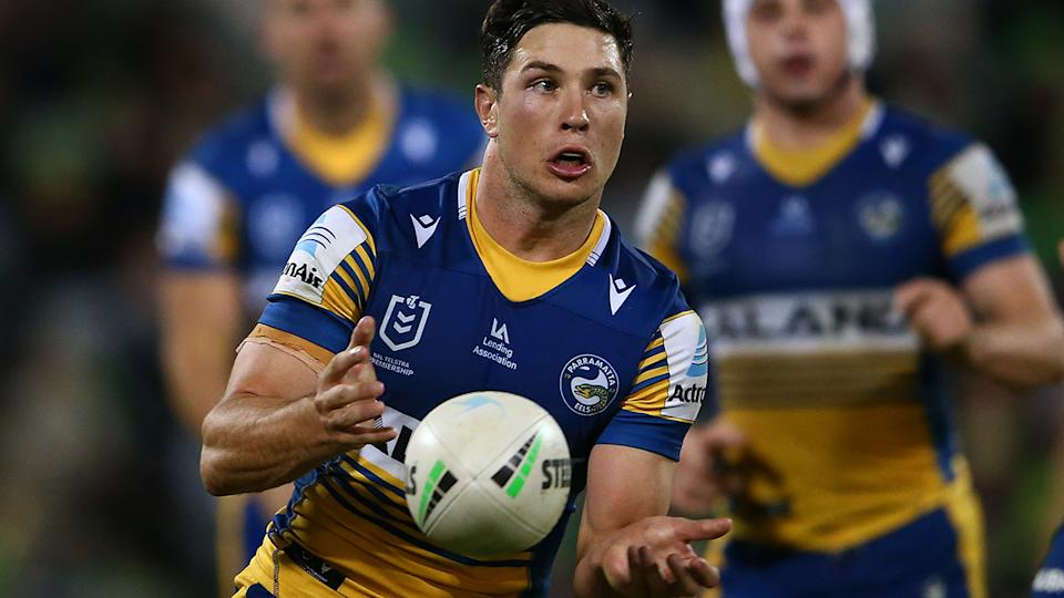 Mitchell Moses has given his strongest indication yet that he plans to re-sign with the Parramatta Eels this off-season. (Photo by Matt Blyth/Getty Images)