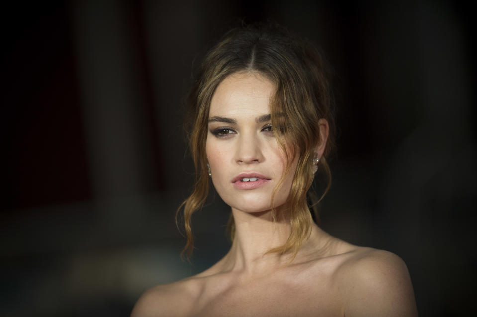 Lily James attending the Pride and Prejudice and Zombies European Premiere at Vue West End, Leicester Square, London.