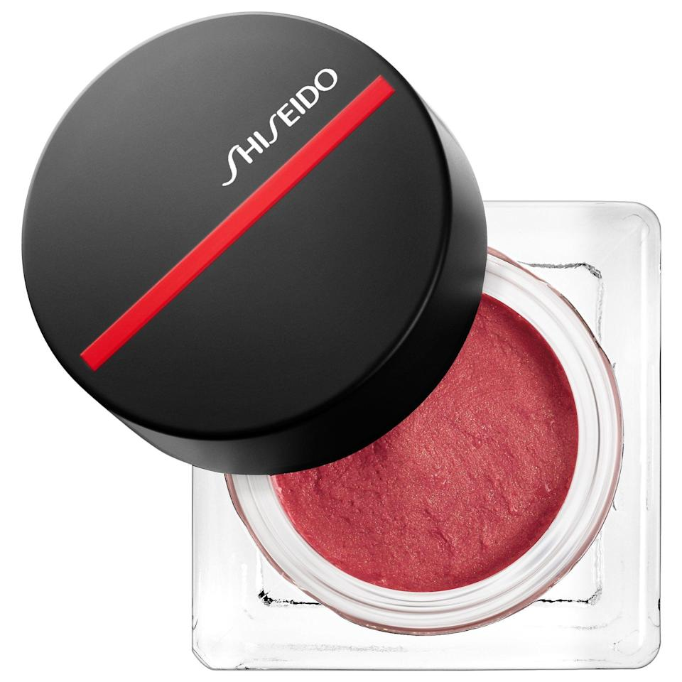 """<p><strong>Shiseido</strong></p><p>sephora.com</p><p><strong>$29.00</strong></p><p><a href=""""https://go.redirectingat.com?id=74968X1596630&url=https%3A%2F%2Fwww.sephora.com%2Fproduct%2Fminimalist-whippedpowder-blush-P435419&sref=https%3A%2F%2Fwww.goodhousekeeping.com%2Fbeauty-products%2Fg35821694%2Fbest-blush-for-dark-skin%2F"""" rel=""""nofollow noopener"""" target=""""_blank"""" data-ylk=""""slk:Shop Now"""" class=""""link rapid-noclick-resp"""">Shop Now</a></p><p>This warm baby pink from Shiseido, a <a href=""""https://www.goodhousekeeping.com/beauty-products/a26991563/best-beauty-awards-2019/"""" rel=""""nofollow noopener"""" target=""""_blank"""" data-ylk=""""slk:GH Beauty Award"""" class=""""link rapid-noclick-resp"""">GH Beauty Award</a> winner, is perfect for dark skin tones. Regarding this shade, Crimson shares that it's """"flattering and translate[s] on deeper skin without casting a mask or ashy film."""" <strong>This formula is air-whipped, </strong>creating a long-lasting blush that's light and breathable on your skin. </p>"""