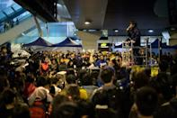 During 2014's 'Umbrella Movement', Wong electrified crowds with calls for civil disobedience