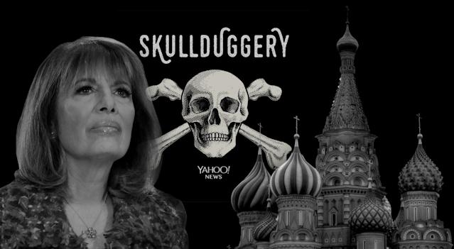 Rep. Jackie Speier, D-Calif., and St. Basil's Cathedral in Red Square in Moscow. (Photo illustration: Yahoo News; photos: Yuri Gripas/Reuters, Getty Images)