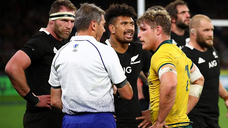 Wallabies captain Michael Hooper was targeted by the All Blacks. (Photo by Cameron Spencer/Getty Images)