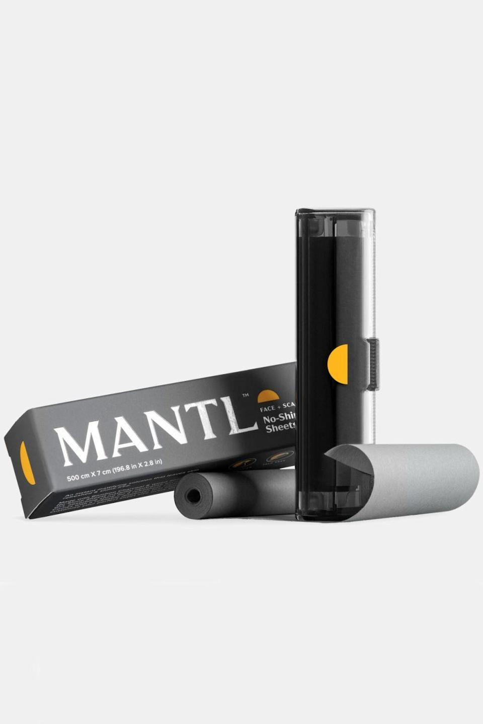 """<p>mantl.co</p><p><strong>$10.00</strong></p><p><a href=""""https://go.redirectingat.com?id=74968X1596630&url=https%3A%2F%2Fmantl.co%2Fproducts%2Fno-shine-sheets&sref=https%3A%2F%2Fwww.cosmopolitan.com%2Fstyle-beauty%2Fbeauty%2Fg35020776%2Fbest-oil-blotting-paper-sheets%2F"""" rel=""""nofollow noopener"""" target=""""_blank"""" data-ylk=""""slk:Shop Now"""" class=""""link rapid-noclick-resp"""">Shop Now</a></p><p>Designed for use on both the face and <a href=""""https://www.cosmopolitan.com/style-beauty/beauty/a30708845/how-to-make-hair-less-greasy-scalp-training/"""" rel=""""nofollow noopener"""" target=""""_blank"""" data-ylk=""""slk:scalp"""" class=""""link rapid-noclick-resp"""">scalp</a>, this compact cartridge with <strong>bamboo charcoal blotting paper absorbs oil and shine from all over</strong>. Pro tip: For the best results, press and hold the paper against your skin instead of wiping it with abandon.</p>"""