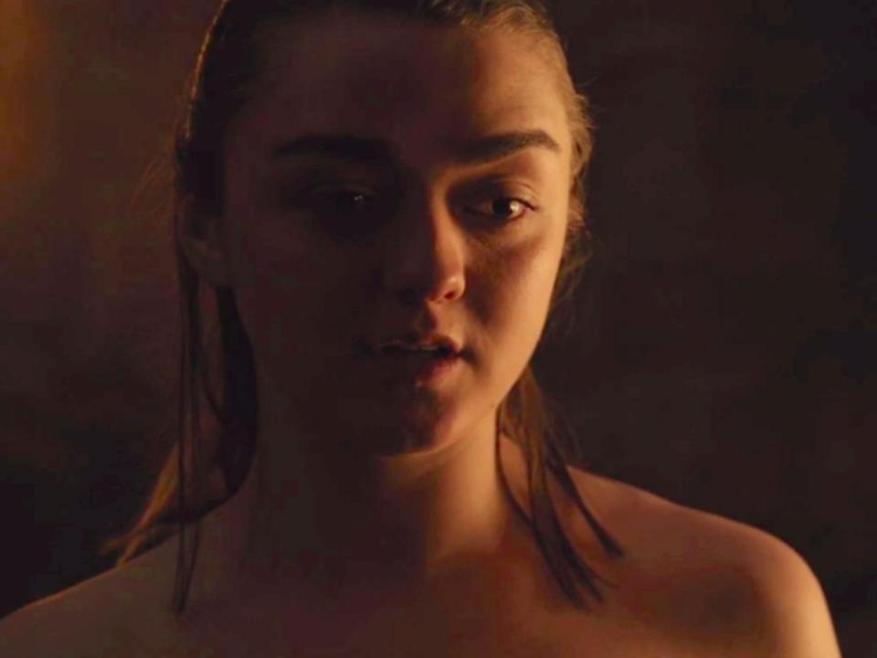 Maisie Williams thought Gendry and Arya sex scene in episode 2 was a joke (credit: HBO)
